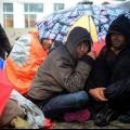 Біженці влаштували голодування в центрі берліна (3 фото)
