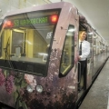 Поїзд-галерея «акварель» з репродукціями картин рязанського музею пущений в московському метро (7 фото)